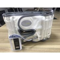 White / Grey Lower Back Compression Belt Pu Leather Surface Light And Portable