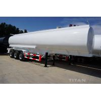 China 3 axles diesel fuel tank semi trailers of 45,000 and 50,000 liters volume for sale wholesale