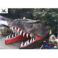 China Shopping Mall Giant Dinosaur Head Sculpture Realistic Attractive Dinosaur Gate wholesale
