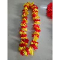 China Wholesale High Quality color party  Supplies Wreathe Lei Promotional Decoration Monochrome Hawaii Flower Necklace Lei wholesale