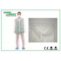 China White Disposable Coveralls Non Woven For Medical Without Hood , Free Sample wholesale