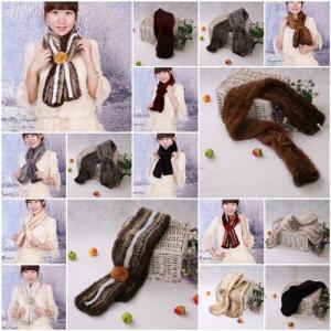 China Mink Fur Scarves Mink Fur Scarf Mink Fur Wraps Mink Fur Shawl Mink Knitted Scarf Fur Flower 8 Colors wholesale