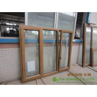 China Wood Clad Aluminum Window & Door For  Villas/Apartment, with Insulating Double Glass wholesale