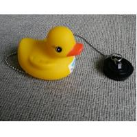 China Non Phthalate Pvc Bathtub Water Stopper  , Toybathtub Drain Stopper With Rubber Duck wholesale