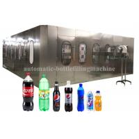 China Liquid Automatic Carbonated Drink Filling Machine , Soft Drinks Making Machine wholesale