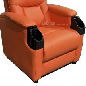 China Leatehr Recliner Orange Movie Theater Seats With Cup Sacuer For Cinema, Home, Living Room wholesale