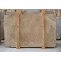 China Light Cream Engineered Stone Countertop , Polished Marble Tile Kitchen Countertops wholesale