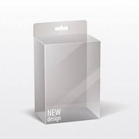 China Flat Packed Square Transparent Plastic Cosmetic Boxes on sale