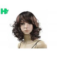 Kanekalon Fiber Synthetic Short Curly Wigs For For Black And White Women