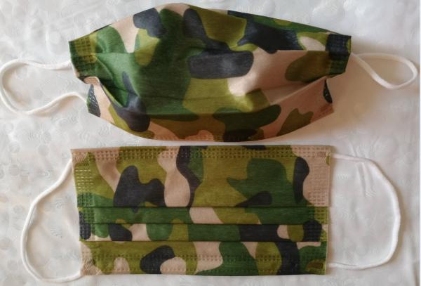 Quality Fashion Military Utility Disposable Face Mask Spunlaced Non Woven For Men Adult for sale