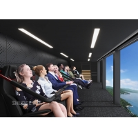 China 360 Degree Vision Flying Theater Experience With 72 Electric Motion Seats wholesale
