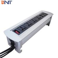 China High-class  Chairman  Room Furniture Flip Up Outlet Connector With 2*VGA Network Configuration wholesale