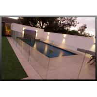 China Tempered Swimming Pool Glass Fencing , Glass Deck Fencing Blue on sale