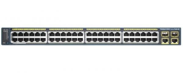 Quality Puissance au-dessus de 29h60 48 PST du commutateur WS-C d'Ethernet - L catalyseur 2960 plus pour le matériel de transmission for sale