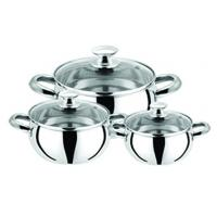 Buy cheap Mirror Polish 6 Piece Cooks Stainless Steel Cookware Sets with s s # 201 from wholesalers
