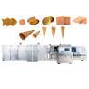 China 71 poder de la máquina 1.5KW de la oblea del helado de las placas que cuece con la puerta doble wholesale