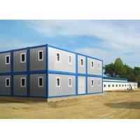 China Two Stories Modular Container Homes Blue And Gray With One Sliding Window wholesale