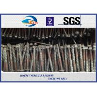 China Q235 Galvanized Washer Head Timber Drive Screw For Rail Fastening System on sale
