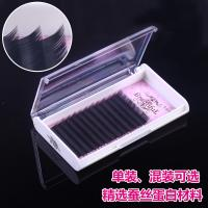 Soft Korean Silk Eyelash Individual Extensions Natural Looking 12 Rows Per Tray