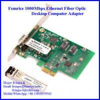China Gigabit Ethernet PCI Express NIC Cards, Single Port GbE (SFP) Network Cards wholesale