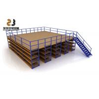 China Boltless / Rivet Shelving Mezzanine Floor Systems , Max 6000mm Upright on sale