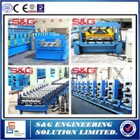 China Galvanized Steel Composite Floor Deck Roll Forming Machine With Emobssing Rollers wholesale