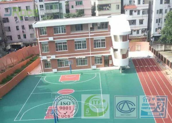 Quality Shock Absorption Rubber Tennis Court Surface With Pu Coating Material for sale