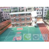 China Shock Absorption Rubber Tennis Court Surface With Pu Coating Material wholesale
