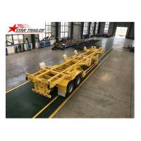 China 65T 40 Ft Semi Trailer Folding Hydraulic Type For Transporting Heavy Duty Equipment wholesale