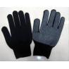 China Cotton PVC Dots Balck Glove wholesale
