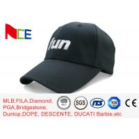 China FUN 6 Panels Mens Sports Hats , Relaxed Black Cool Sports Fitted Caps wholesale