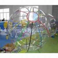 China Inflatable Beach Ball, Made of EN 71 0.8mm Soft Clear PVC, Measures 2.1m wholesale