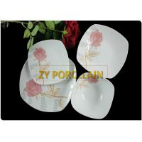 Low Water Absorption Square Dinnerware Sets Smooth Surface Hard To Break