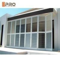 China Outdoor Perforating Movable Aluminium Louver Window Vertical Sun Shading on sale