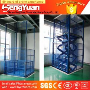 China guide rail lift /telescopic lift /guide rail hydraulic cargo lift on sale