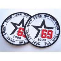 China Rubber 3D Custom Clothing Patches Embosssed With Backing wholesale