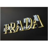 China Back Acrylic Lighted Aluminum / Stainless Steel Signs Free Design on sale