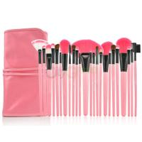 China korel girl best love pink color makeup brush set 24pcs nice girl's best gift for cosmetics wholesale