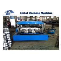 China 22KW Main Power Floor Decking Roll Forming Machine For 0.8-1.6mm Thickness PPGI Sheet wholesale
