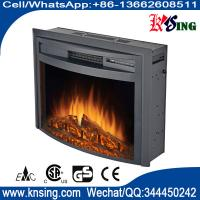 """26"""" insert electric fireplace heater curved front log LED flame effect WF2613L remote control built-in electric stove"""