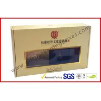 Khaki Window Strong Paper Board Packaging Gift Boxes Elegant Design for sale