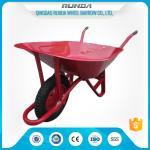 China Steel Tray Heavy Duty Wheelbarrow , County Clipper Wheelbarrow 65L Water Capacity wholesale
