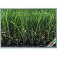 China 3 / 8 Inch Landscaping Snythetic Artificial Grass Carpet Outdoor Green Color wholesale