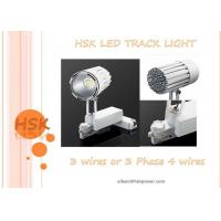 China 3 Phase 4 Wires 45w Cob Led Track Light For Exhibition Hall Shope , Black And White Color wholesale