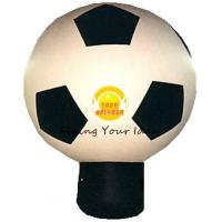 China Giant Attractive Inflatable Advertising Balloon For Promotion With Football Shape on sale