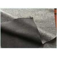 China Socks / Hats Per Meter Stretch Wool Fabric Customized Gray with 47 Wool 650 G wholesale