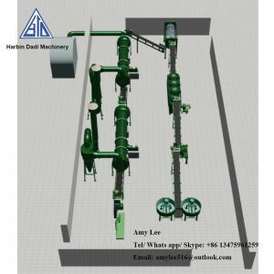 China 1 Ton/ hour Organic fertilizer granulation machine production line/fertilizer plant wholesale