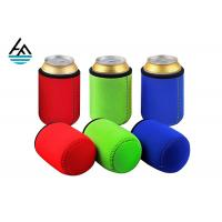 China Custom Foam Neoprene Can Holder / Mutispandex Personalized Beer Can Cooler on sale
