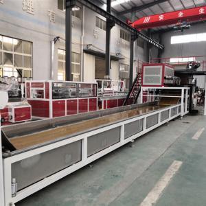 China 220kw SPC Flooring Production Line LVT Vinyl Plank Floor Production Line PLC Control wholesale