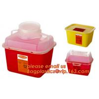 China Rectangle safe sharp container, Medical Disposal Bin Sharp /Safe SharpS Containers plastic medical sharp containers wholesale